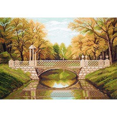 Point de croix imprimé aida Collection d'art pont spring charm