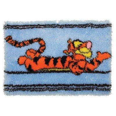 Kit tapis point noué Anchor tigrou couché de disney