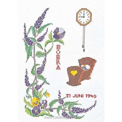 June sur aida broderie naissance - Thea Gouverneur