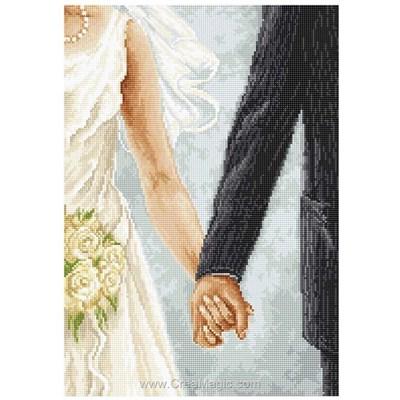 Tableau broderie point de croix le lien de mariage de Luca-S