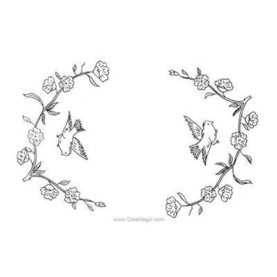 Napperon envolée fleurie à broder en point de broderie - Luc Création