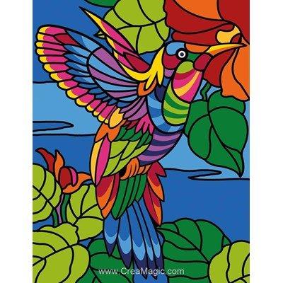 Canevas Margot l'oiseau coloré
