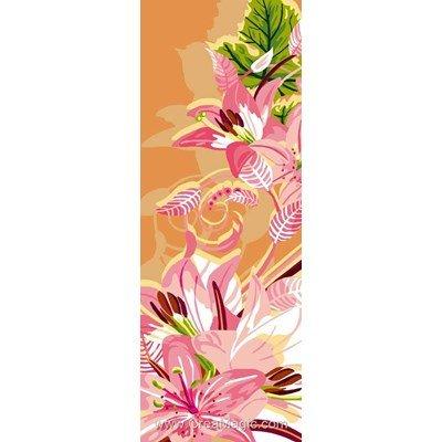 Luc Création canevas art floral en rose