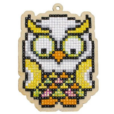 Broderie diamant Wizardi hibou tropical