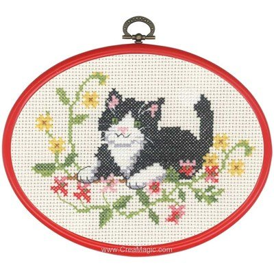 Kit broderie point compté le petit chat noir - Permin