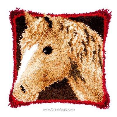Kit coussin point noue Vervaco tête de cheval