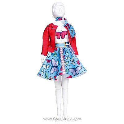 Couture set lucy butterfly DRESS YOUR DOLL pour barbie