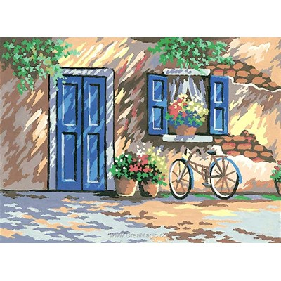 La bicyclette de la maisonnette canevas chez Collection d'art