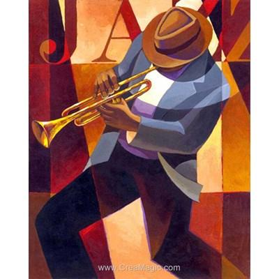 Kit broderie diamant Diamond Painting trompette - jazz