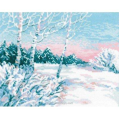 Modèle RIOLIS au point de croix paysage en 'hiver