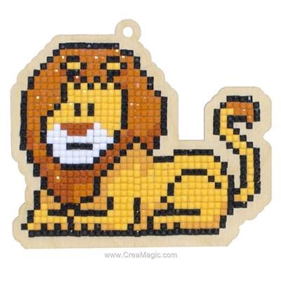 Broderie diamant lion - Wizardi