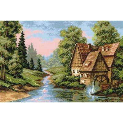 Broderie au point de croix point compté RIOLIS the mill