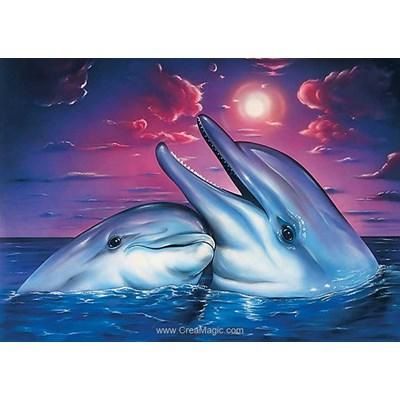 Kit broderie diamant Wizardi dolphins