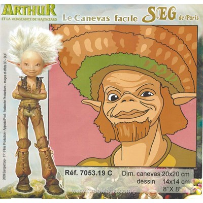 Arthur et les minimoys - c kit canevas débutant - SEG
