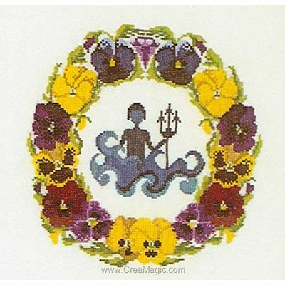 Broderie point de croix aquarius sur aida - Thea Gouverneur