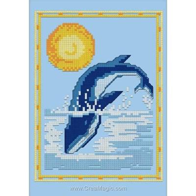 Baleine mini kit de point de croix - Luc Création