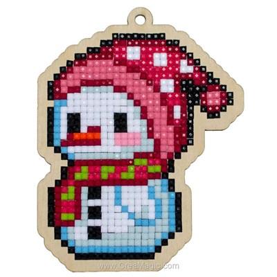 Kit broderie diamant petit bonhomme de neige - noël de Wizardi