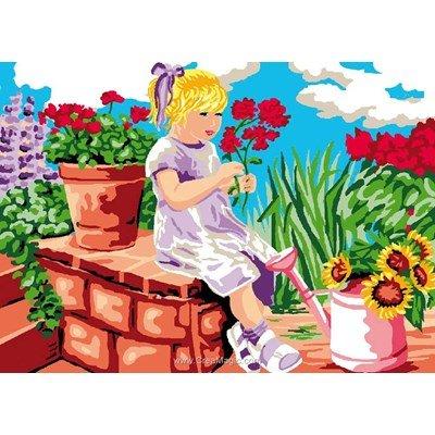 L'été fleuri canevas - Luc Création