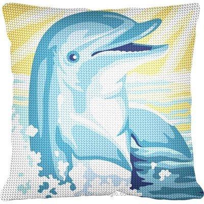 Coussin au demi point dauphin sous rayon de soleil - SEG