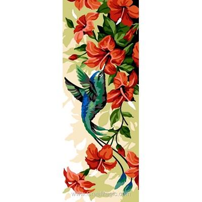Canevas colibri et hibiscus - SEG