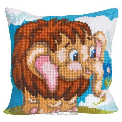 Coussin Collection d'art au point de croix harry