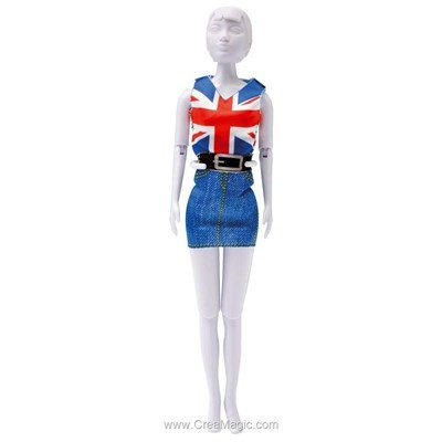Kit patron combi red blue DRESS YOUR DOLL