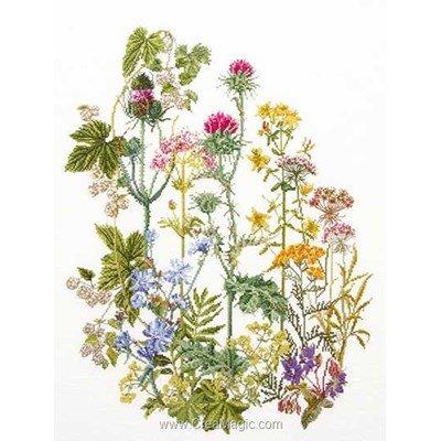 Herb panel sur lin kit à broder au point de croix - Thea Gouverneur