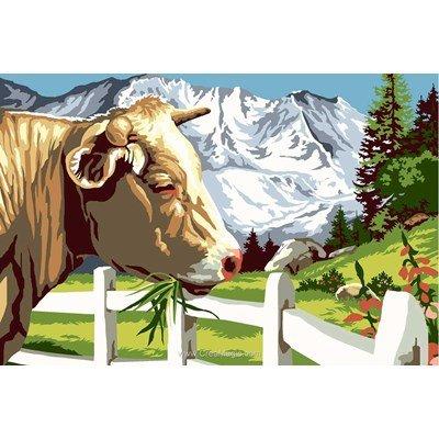 La vache et la barrière canevas chez SEG