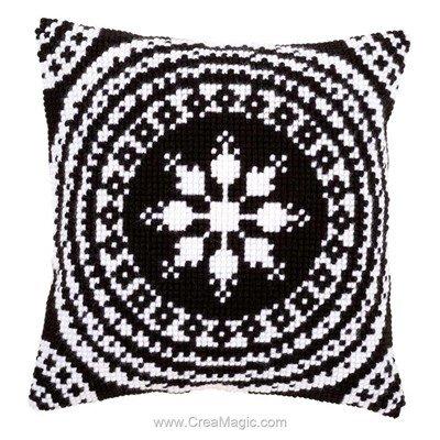 Kit coussin au point de croix black and white - Vervaco