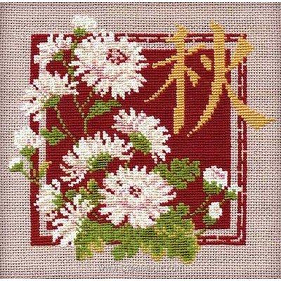 Kit tableau RIOLIS point de croix automne chinois