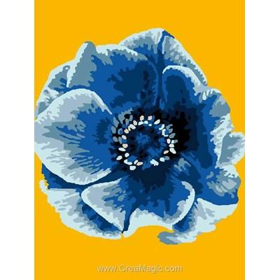 Kit canevas fleur bleue de Luc Création