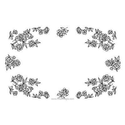 Napperon à broder fleurettes en broderie imprimée - Luc Création