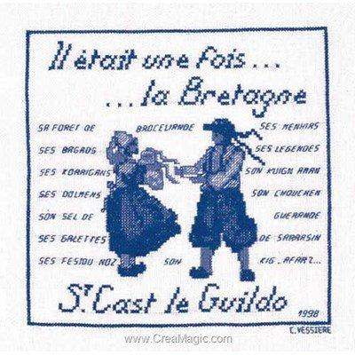 Broderie au point de croix point compté saint cast 1998 - bretagne de Le Bonheur Des Dames