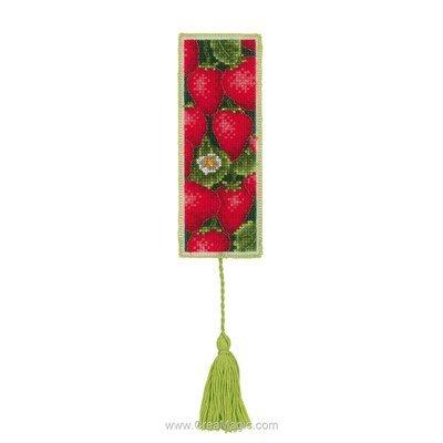 Marque page Royal Paris les fraises à broder