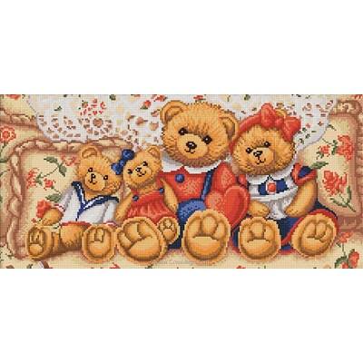Kit broderie diamant teddy bears de Diamond Painting