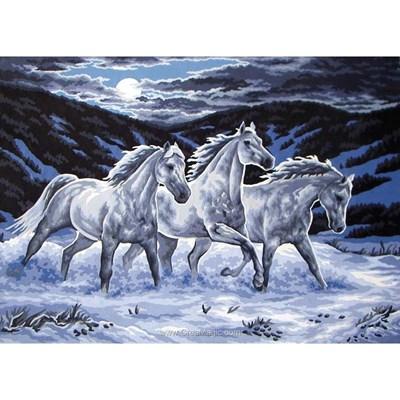 Canevas etalons blancs dans la brume - Collection d'art