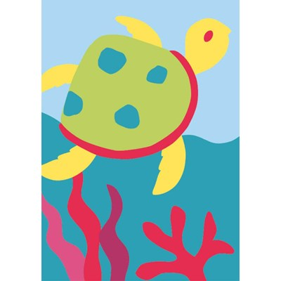 Kit canevas avec fils DMC la tortue clown