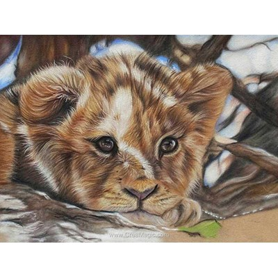 Kit broderie diamant little lion - Diamond Painting
