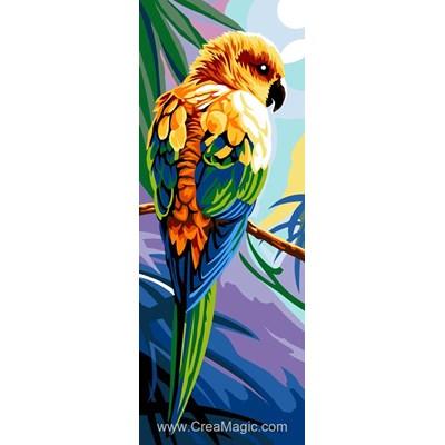 Canevas perroquet sur la branche de Margot