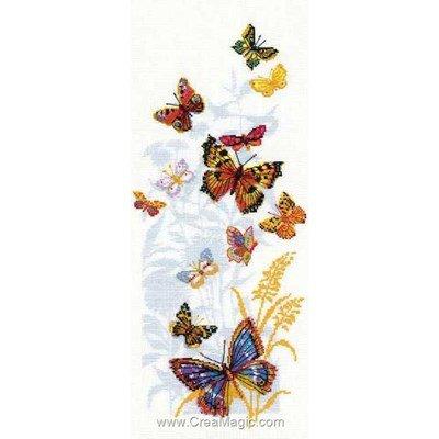 Kit à broder de RIOLIS au point de croix les papillons russes