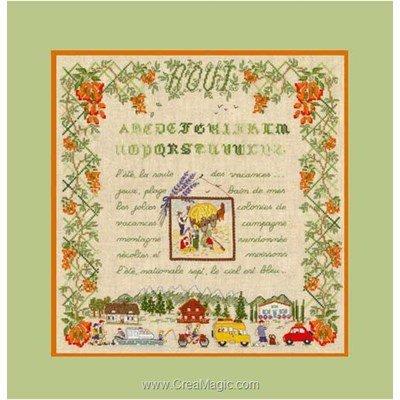 Saison : le mois d'août kit broderie de Le Bonheur Des Dames au point de croix