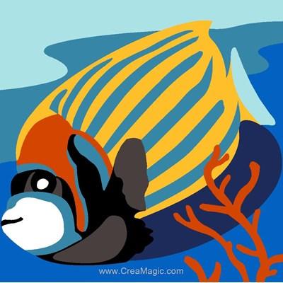 Canevas kit enfant complet poisson exotique - SEG