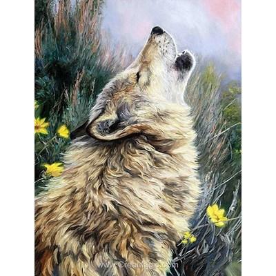 Broderie diamant le cri du loup - Diamond Painting