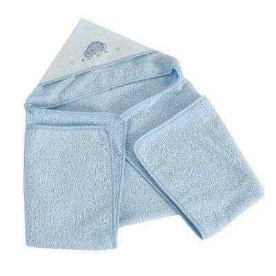 Sortie de bain bébé 1er jours bleu à broder - DMC