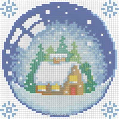 Kit broderie diamant new year house - Diamond Painting