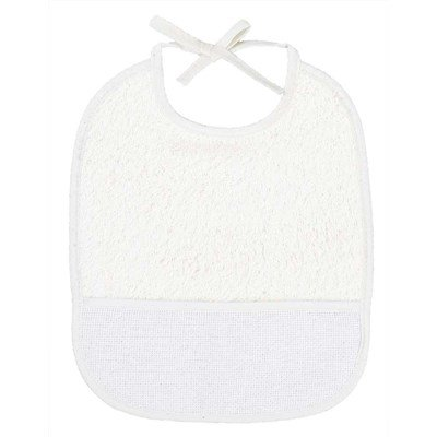 Bavoir bébé 3 mois blanc à broder DMC