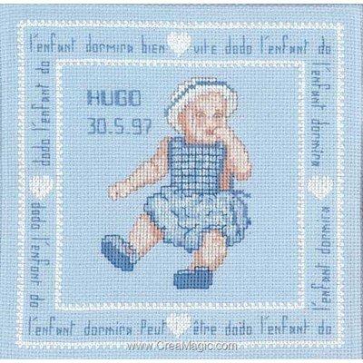 Kit broderie point de croix petit garçon - Le Bonheur Des Dames