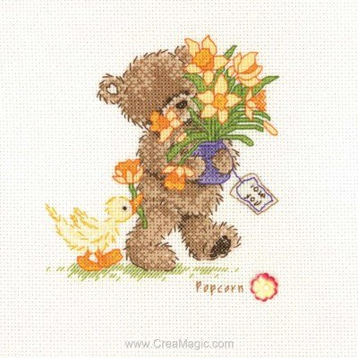 Popcorn la broderie flowers for you - cueillies pour toi