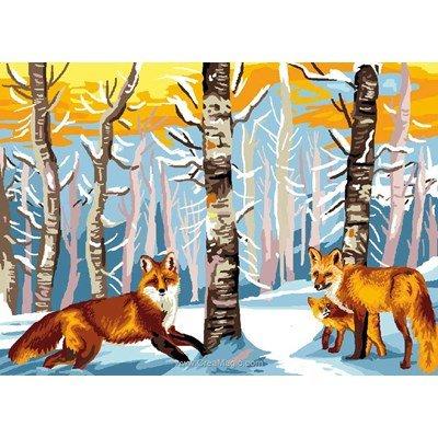Canevas les renards de Luc Création