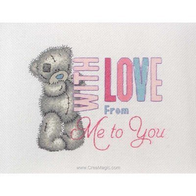 Me To You - with love broderie point compté - Me To You
